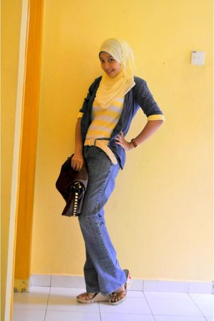 jeans Applemints jeans - leather no brand bag - cotton no brand cardigan - Vincc