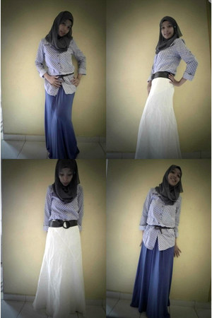 no brand dress - no brand shirt - gorgette no brand scarf - British India skirt