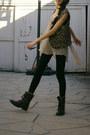 Socks-boots-leggings-blouse-vest
