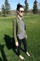 black matt&nat bag - black H&M blouse