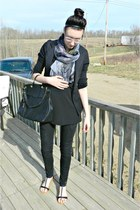 black Ebay bag - heather gray Ebay scarf - black Walmart sandals