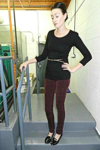 crimson alloy pants - black Ebay flats