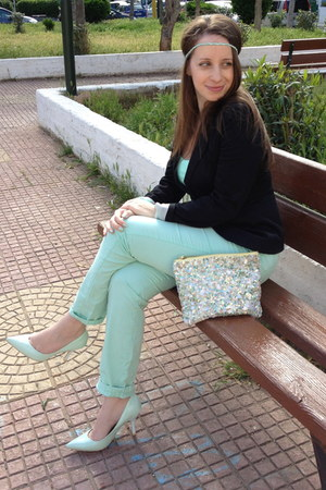 BLANCO pants - Stradivarius blazer - sequins Zara bag - Zara accessories
