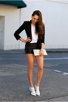 black bcbg max azria blazer - white LAMixx shirt - black Dailylook shorts