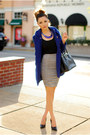 Navy-rosy-ruby-coat-silver-bebe-skirt-navy-lulu-le-necklace