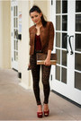 Dark-brown-nasty-gal-jeans-bronze-bcbg-max-azria-jacket