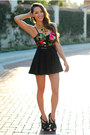 Ruby-red-living-royal-top-black-romwe-skirt-black-shay-accessories-necklace