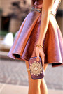 Coral-topshop-dress-purple-bag-neutral-heels