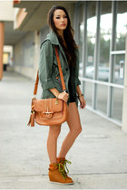 bronze popcouture bag - olive green Chicwish coat