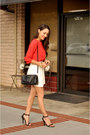 Black-coach-bag-white-pleather-dailylook-skirt-red-ro-de-top