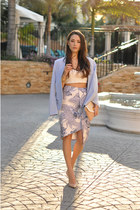 periwinkle Keepsake The Label skirt - periwinkle nicole by Nicole Miller blazer