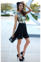 gold jovanna london dress - black Aldo heels