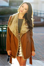 Tawny-chicwish-coat-olive-green-lulus-top-tan-sophia-james-skirt