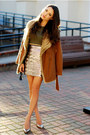 Tawny-chicwish-coat-tan-sophia-james-skirt-olive-green-lulus-top