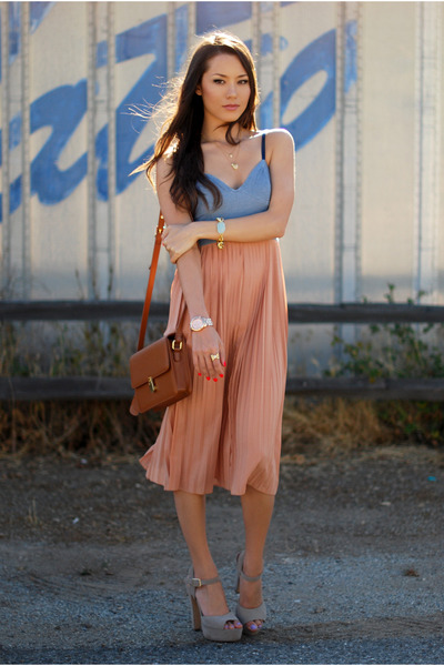 Motel Rocks dress - romwe bag - Steve Madden top