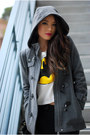 Gray-bcbg-max-azria-coat-black-pacsun-jeans-white-romwe-top