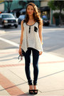 Navy-forever-21-leggings-white-minted-republic-top-black-steve-madden-heels