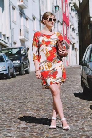 white Zara sunglasses - white new look sandals