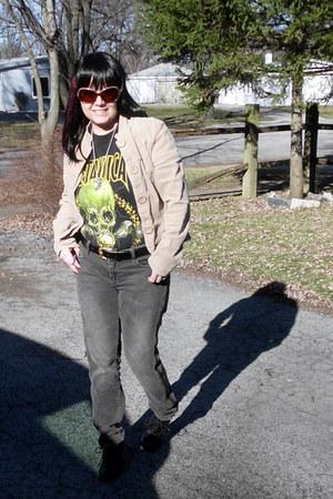 metallica Giant shirt - Charlotte Russe jeans - Mossimo heels