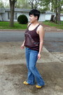 Mustard-kinsey-girl-flats-american-eagle-jeans-brown-mossimo-supply-shirt