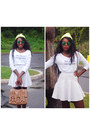 White-le-motto-shirt-tan-cotton-on-bag-white-urban-outfitters-skirt