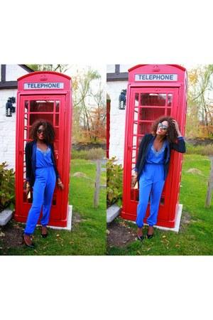 black Macys blazer - blue Charlotte Russe romper