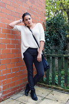 black asos boots - gray Primark leggings - ivory Matalan jumper