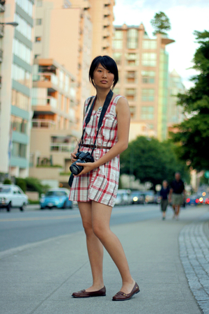white kimchi & blue dress - brown shoes