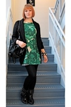banana republic dress - Element sweater - Miss Me boots