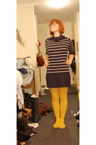 Forever21 dress - Buffalo Exchange tights - The River glasses