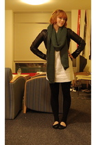 H&M scarf - H&M jacket - Gap via Buffalo Exchange dress - Pink Zone tights - Tar