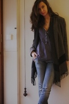 Zara t-shirt - Zara jacket - meltinpot jeans - Bata shoes