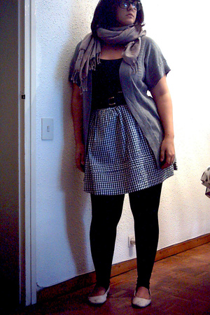 thrifted skirt - Mango t-shirt - H&M belt - Mango jacket