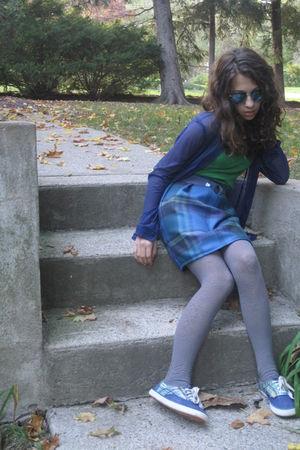 blue American Apparel shirt - blue What A Wonderful Weardrobe skirt