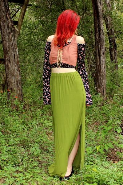 black floral kirra tops olive green maxi diy skirts pink