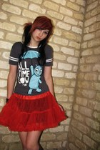 skirt - Keds shoes - socks - t-shirt