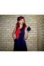 Navy-sailor-rock-steady-dress-navy-button-vintage-gloves