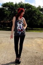 black skinny jeans Bullhead jeans
