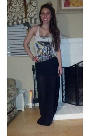 Urban Outfitters shirt - Pac Sun bra - Pac Sun skirt