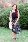 Black-midi-foreign-exchange-skirt-black-t-strap-call-it-spring-heels
