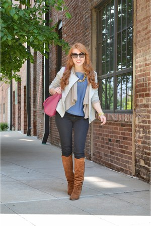 heather gray moto jacket soft surroundings jacket