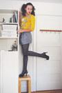 Gold-argyle-liz-claiborne-sweater-dark-gray-diamond-goodwill-tights-light-pu