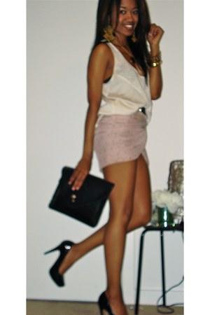 peach hm Skirt scarf - neutral target Ivory blouse