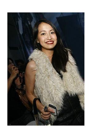white Zara vest - black H&M dress - silver Zara shoes - black Mango bag