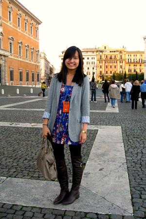 Sfera dress - Stradivarius blazer - Zara boots - Zara purse - Sfera accessories