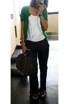 Topshop blazer - Zara t-shirt - prp jeans - Topshop shoes - LV purse