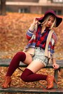 Bronze-braided-forever-21-shoes-maroon-floppy-h-m-hat-camel-romwecom-sweater