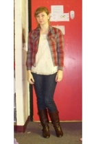 Urban Outfitters - Urban Outfitters blouse - jeans - Aldo boots