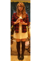 UO jacket - aa dress - Target socks - Etsy shoes