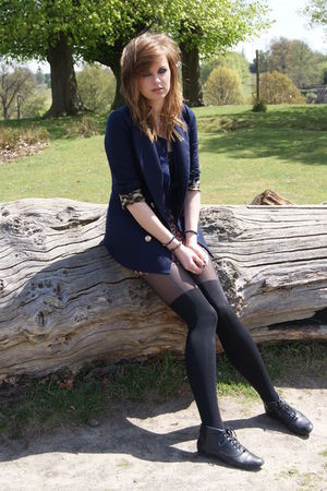 blue camden town blazer - black My Tightscom tights
